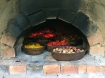 Roasting the veggies for the hot sauces